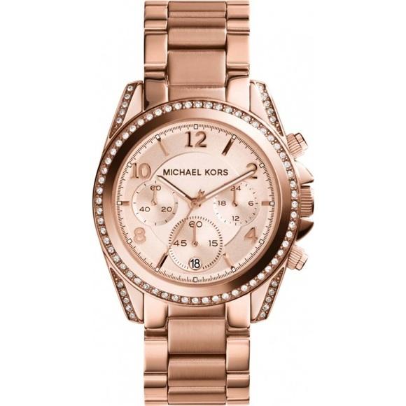 Rose Gold Michael Kors Blair Rose Gold Watch